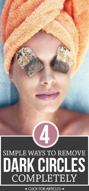 Dark circles have steal the glow from your face and makes you look older. Don't put up with them anymore. Learn here how to remove dark ...
