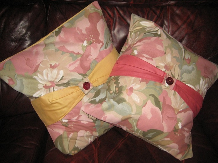Handmade Floral Cotton Cushion Covers With Button Detail. £10.50, via Etsy.