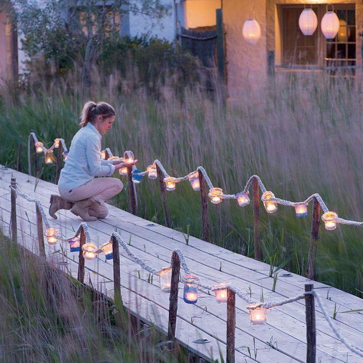 Créer un éclairage de jardin pour les soirées d'été