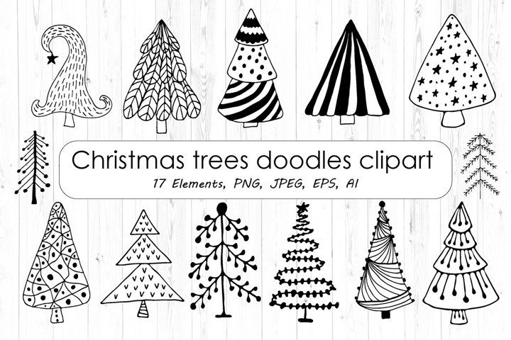 40+ Christmas Decoration Clipart Black And White