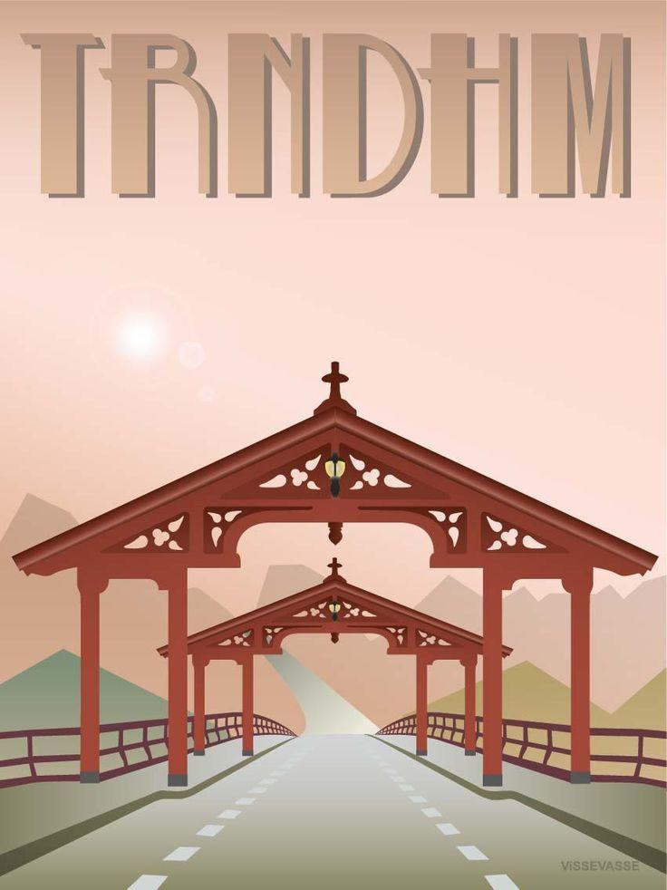 TRONDHEIM - plakat. Lykkens Portal