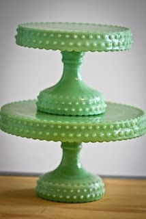 11 best images about jadeite glassware on pinterest jade for Colored glass cake stand