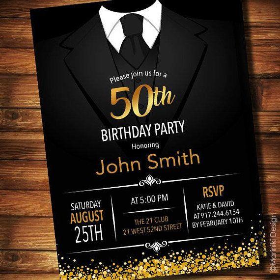 Pin On Todo Para 18 Y Hombres Mens 50th birthday invitations