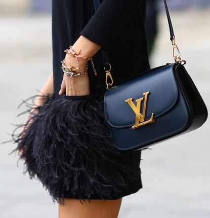LV bag ( love the skirt too )