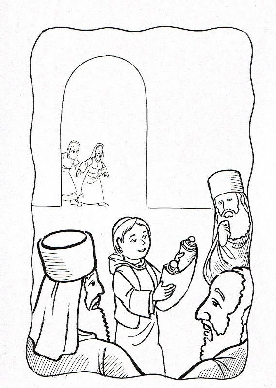 New Coloring Page Boy Jesus In The Temple Download Sunday School