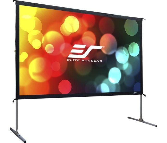 "Elite Screens - YardMaster2 100"" Outdoor Projector Screen - Silver - Angle Zoom"