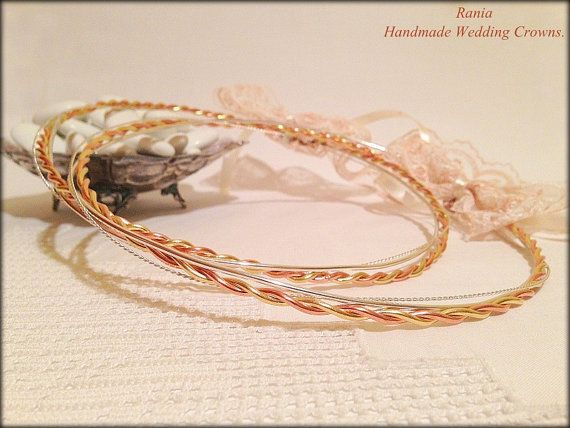 Wedding Crowns.Greek Stefana.Orthodox Headband.Silver by RNIA, €75.50