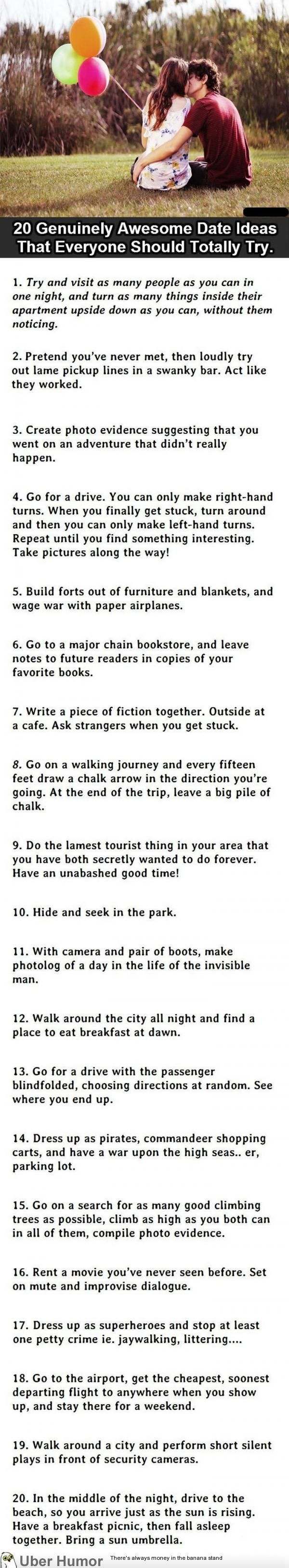 20 Genuinely Awesome Date Ideas that Everyone Should Totally Try
