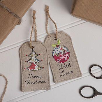 Fabric Christmas Gift Tag