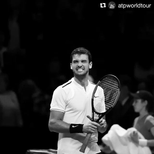 #Repost @atpworldtour  The feeling of moving to your first ever #NittoATPFinals semi-finals!  It took Grigor #Dimitrov just 73 minutes to take out David #Goffin 6-0, 6-2 and secure his spot next to Federer!  #atp #tennis #london #dimitrov #grigordimitrov #etennisleague #etennisleaguenation #tennisnews #atpfinals #semifinal