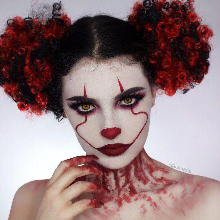 BOO! #makeup #halloween #halloweenmakeup #pennywisemakeup #halloweenlooks