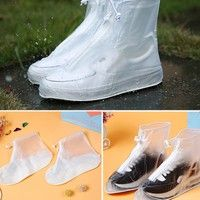 Unisex Waterproof Protector Shoes Boot Cover Rain Shoe Covers High-Top Anti-Slip  Featur