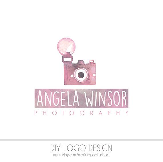 Pre made diy photography logo pastel by mariabphotoshop on etsy