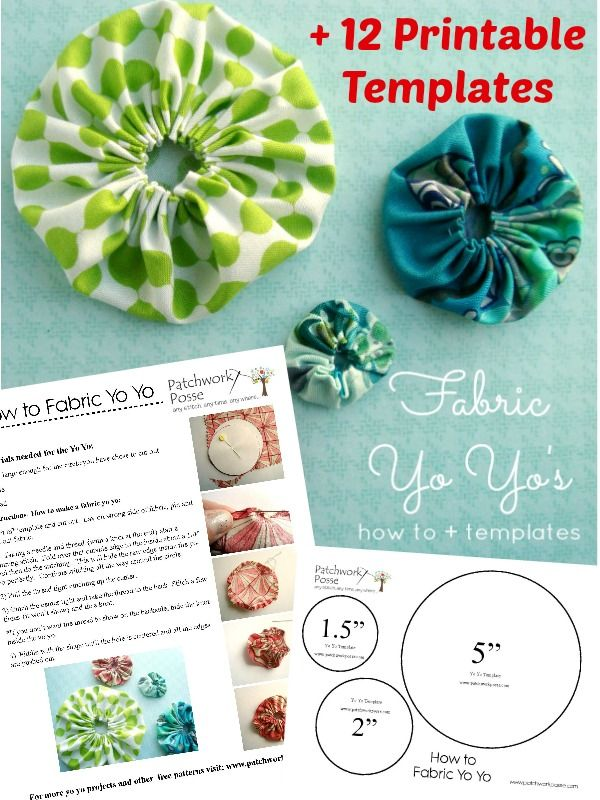 Use these printable fabric yo yo templates for any projects you have. Great for print and use.