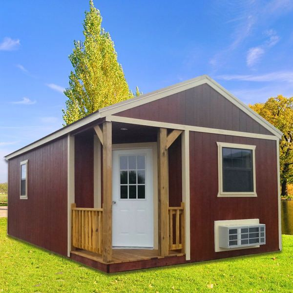 Studio Finished Cabin Lofted Barn Cabin Portable Buildings Tiny House Cabin