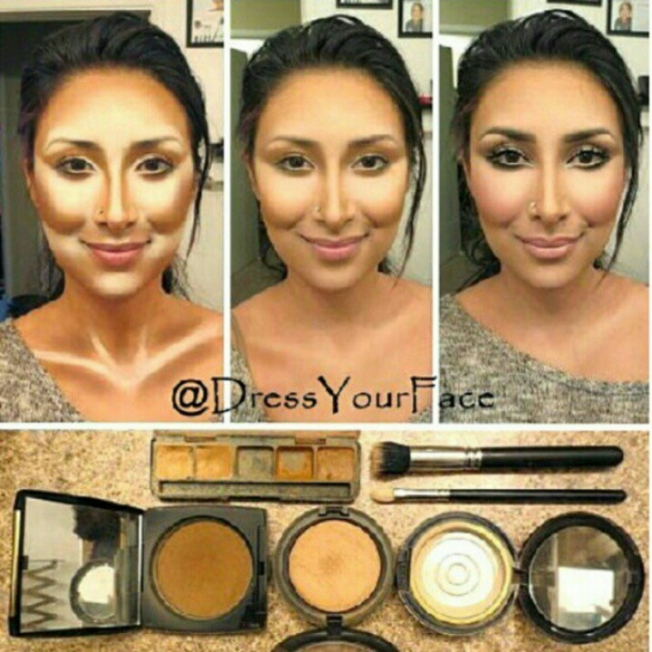 how to use makeup to contour face