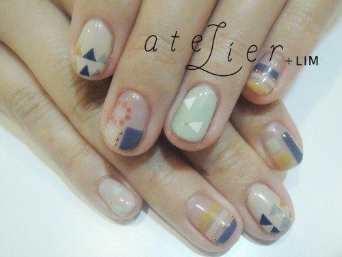 ZOZOPEOPLE | atelier+LIM - 春nail ・・・濃いカラー