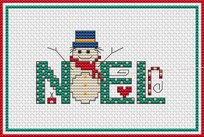 Free Cross Stitch Patterns by AlitaDesigns: NOEL and Snowman Free Cross Stitch Pattern