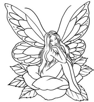 A fairy sitting on a flower tattoo                                                                                                                                                                                 More