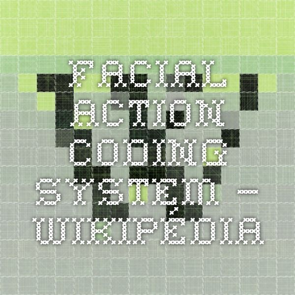 Facial action coding system — Wikipédia