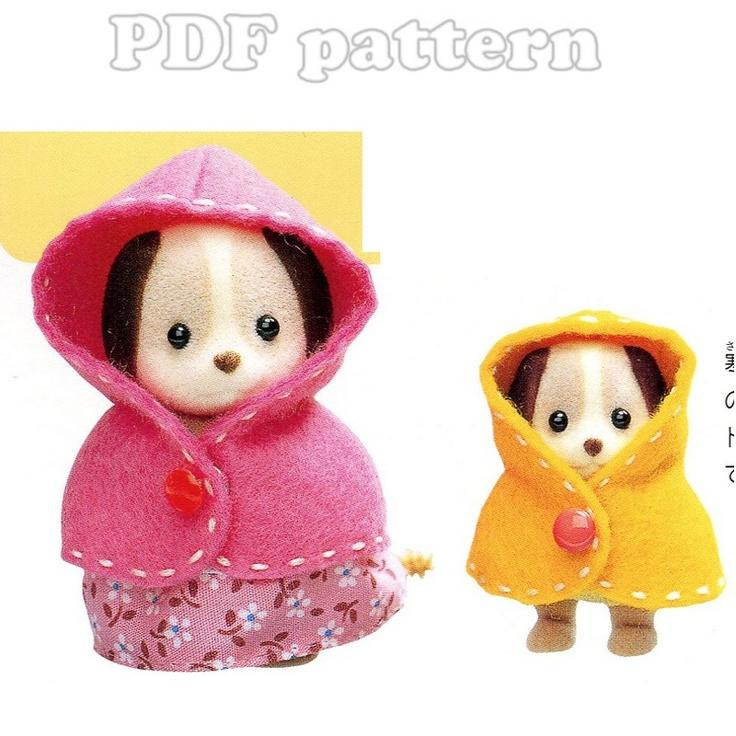 Sylvanian Families 2 Sizes Cloak Pattern PDF   CraftyLine e-pattern shop
