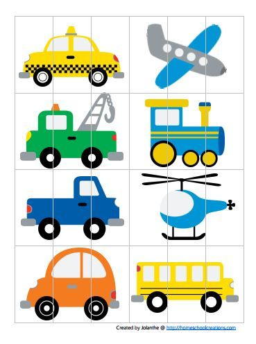 simple transportation puzzle & other free printables