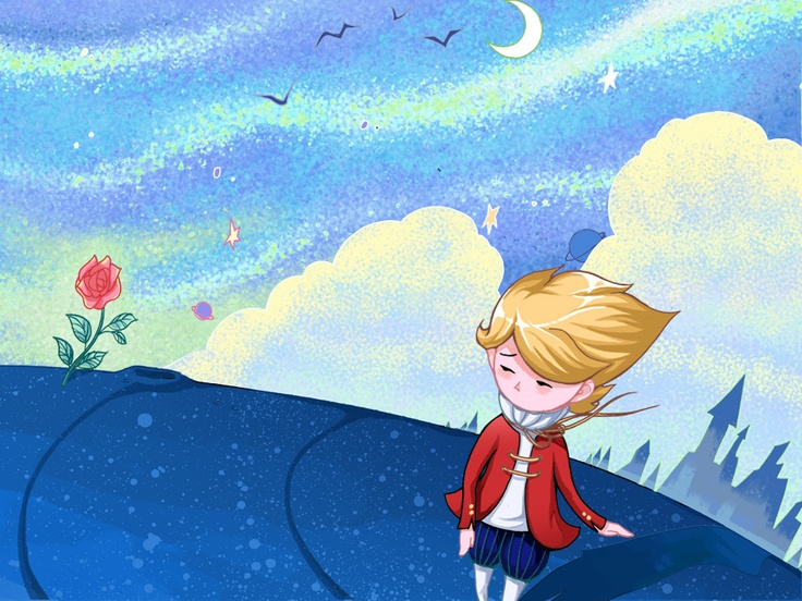 """""""Goodbye,"""" he said to the flower. (The Little Prince)"""