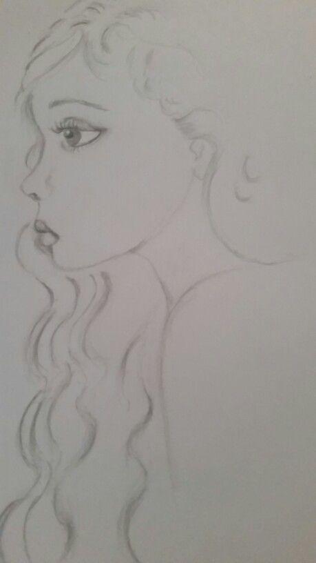 Little girl quick sketch in 4b graphite