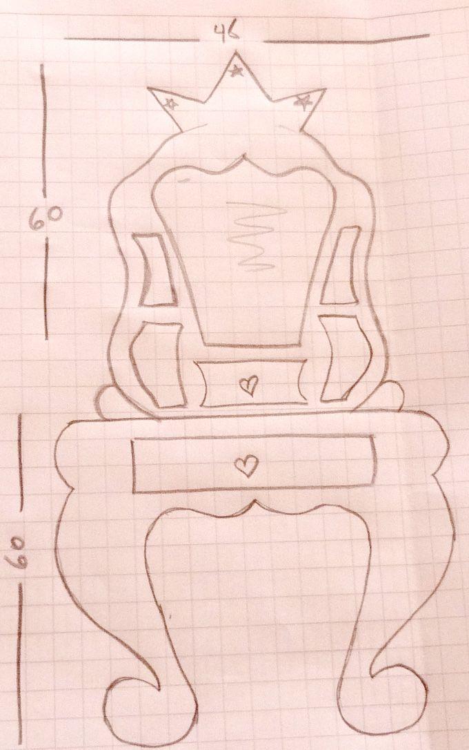 Las Creaciones de doña Castora: Muebles de Cartón: Tocador de Princesa
