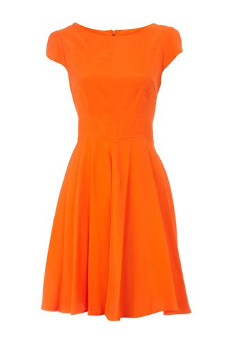Tangerine orange cocktail dress