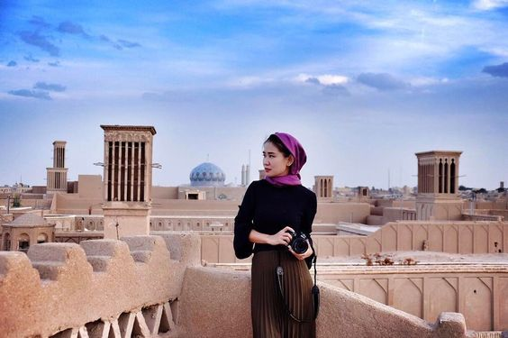 "Because of generations of adaptations to its desert surroundings, Yazd has a unique Persian architecture. It is nicknamed the ""City of Wind Catchers"" from its many examples. ☀️ 