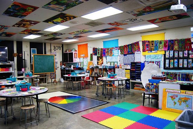 What a cool art room