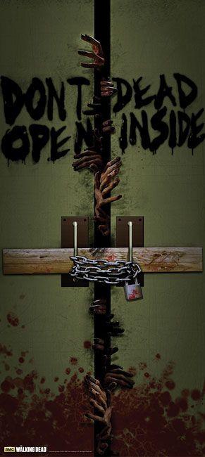 WALKING DEAD Dead Inside Door Cling Honors A Legendary Show's Defining Moment -  #decor #walkingdead #zombies