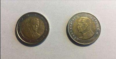 UNIVERSO PARALLELO: Moneta due euro falsa: allarme monete thailandesi