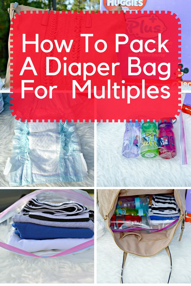 {AD} Packing a diaper bag for more than one kid can sometimes be a headache but here are some tips for packing a diaper bag for multiples.  Diaper Cake| Diaper Bag| Diaper gift| Diaper bag essentials| Diaper bag for twins| Diaper bag for triplets| Diaper bag check list| Diaper bag organization|