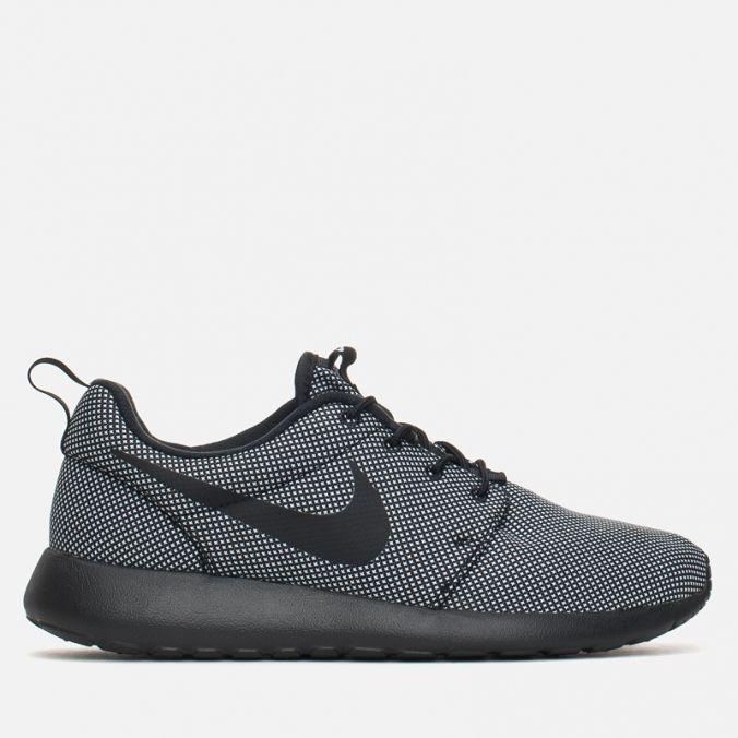 Мужские кроссовки Nike Roshe One Premium Black/Black/White фото-0