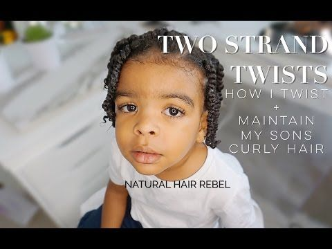 NATURAL HAIRSTYLE FOR KIDS • TWO STRAND TWISTS ON BOYS HAIR • TODDLER EDITIO…