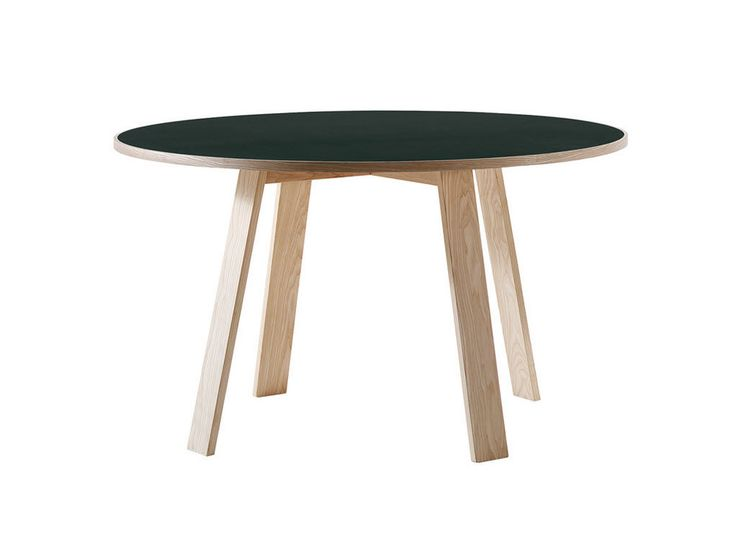Contemporary table in wood by jasper morrison round bac cappellini in - Table exterieur ronde ...