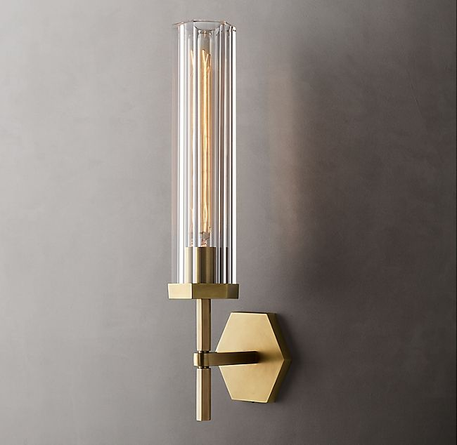 Lambeth Hexagonal Grand Sconce Modern Sconces Sconces Modern Ceiling Light