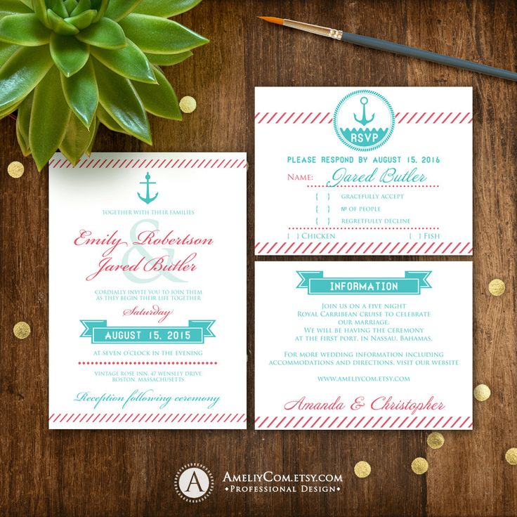 New in our shop! Printable Wedding suite Nautic Coral & Teal Wedding Invite, RSVP Card, INFO Card, DIY Wedding S... https://www.etsy.com/listing/270416725/printable-wedding-suite-nautic-coral?utm_campaign=crowdfire&utm_content=crowdfire&utm_medium=social&utm_source=pinterest