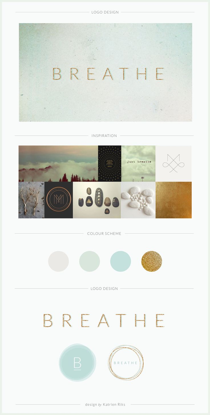 BREATHE is a breathwork therapist practice. Their logo and brand needed to expresses the movement and stillness of air.