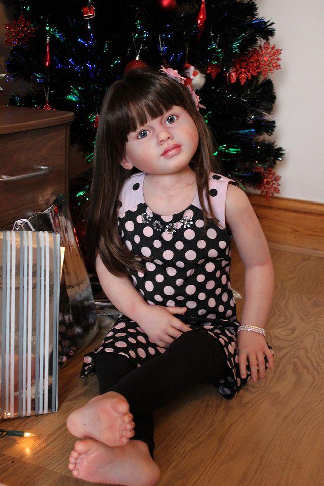 Beautiful Reborn Baby Girl Toddler Child Size Doll