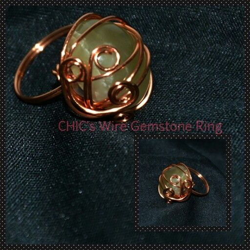 Wire wrapping stine ring