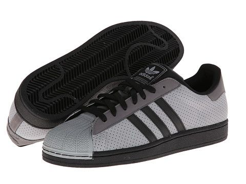 adidas Originals Superstar 2 Mid Grey/Black/Sharp Grey - Zappos.com Free