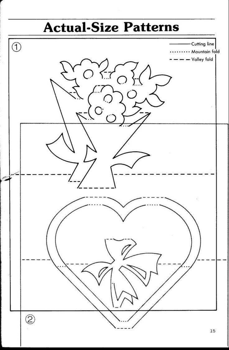 Рождением дочки, открытка из бумаги схема