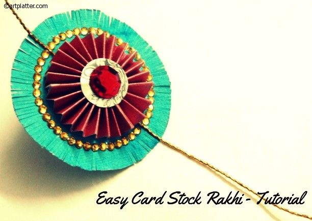 Easy rakhi making craft – with card stock Idk what a rakhi is but its cute