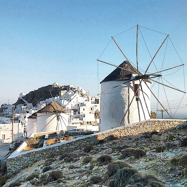 Windmills in chora , at Serifos island (Σέριφος) .