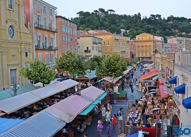 Cours Saleya Market Nice. Find information about the Marche aux Fleurs and more found at the Cours Saleya outdoor market in the south of France.