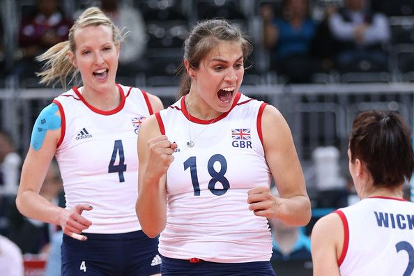 Grace Carter of Great Britain - Women's Volley Ball. Wearing Official Team GB kinesiology tape!