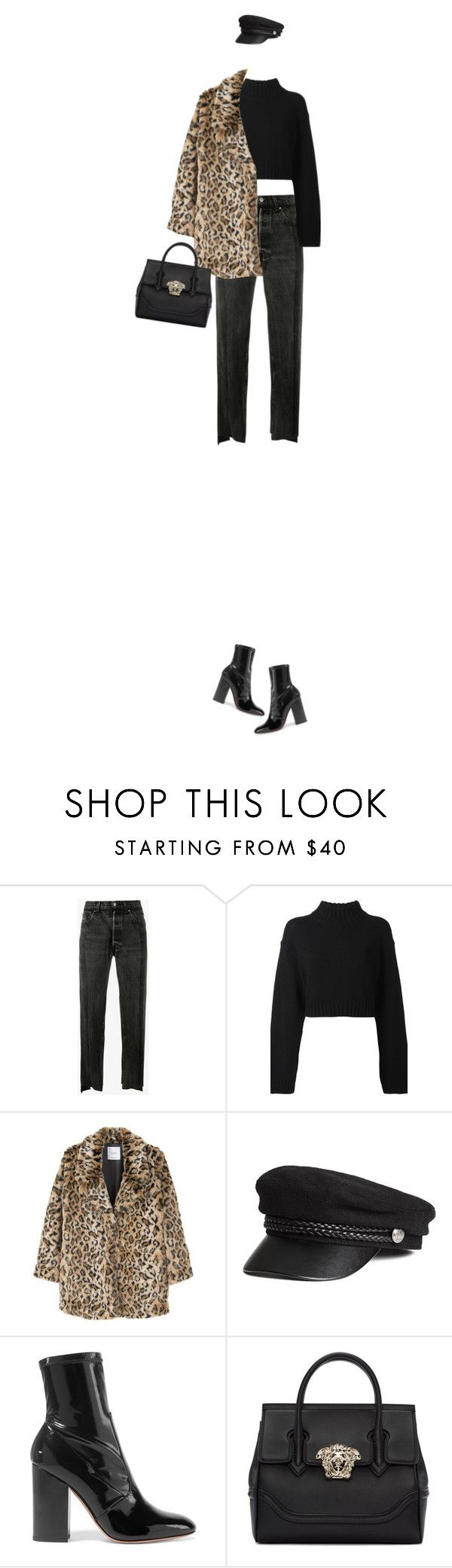 """Без названия #1821"" by alexa-girl2 ❤ liked on Polyvore featuring Vetements, DKNY, MANGO, Valentino, Versace, StreetStyle, leopard and fashionset"